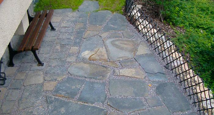 basalt polygonalplatten fläche