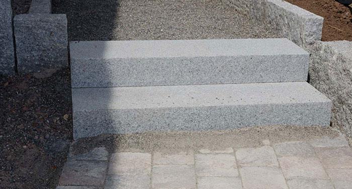 granit blockstufen zwei stufen
