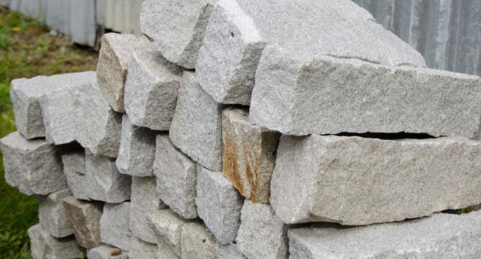 granit palisaden stapel
