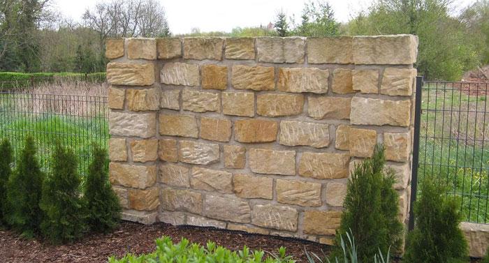 Sandstein mauersteine for Mauer mediterran