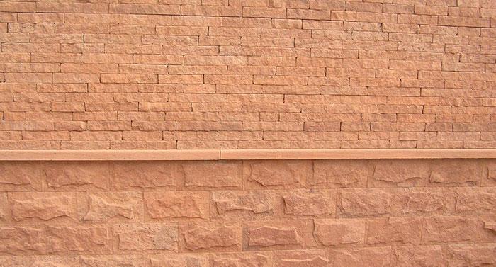 sandstein verblender rot