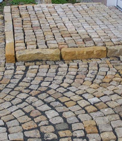 sandsteinplaster mit stufe