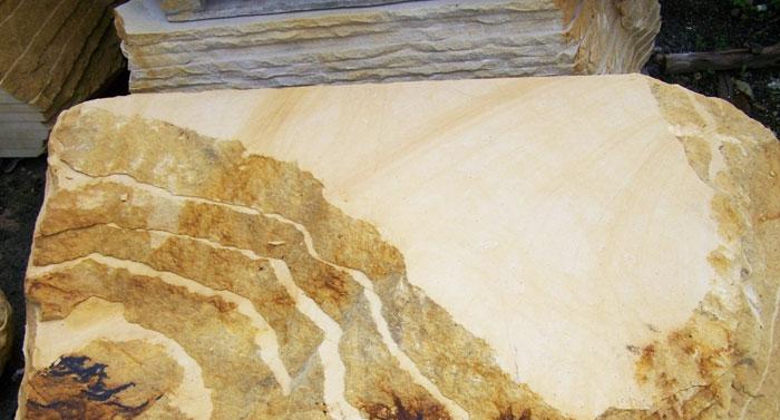 sandsteinplatten geschnitten